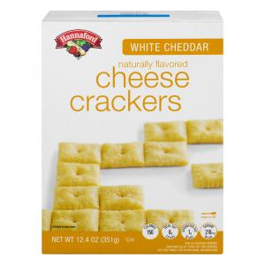 Hannaford White Cheddar Cheese Snack Crackers