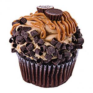 Jumbo Chocolate Peanut Butter Filled Cupcakes