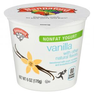 Hannaford Nonfat Yogurt Vanilla