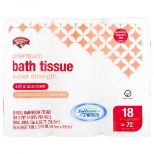 Hannaford Premium Super Strength Mega Roll Bath Tissue