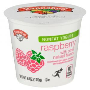 Hannaford Nonfat Yogurt Raspberry