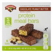 Hannaford Chocolate Peanut Butter Protein Meal Bars
