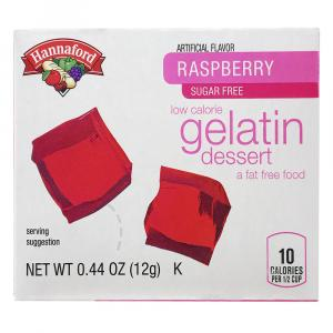 Hannaford Sugar Free Raspberry Gelatin
