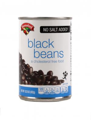 Hannaford No Salt Added Black Beans