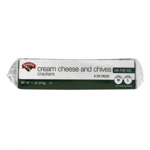 Hannaford Cream Cheese and Chive Crackers