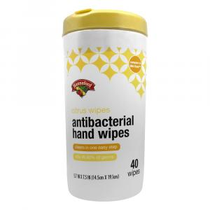 Hannaford Citrus Antibacterial Wipes