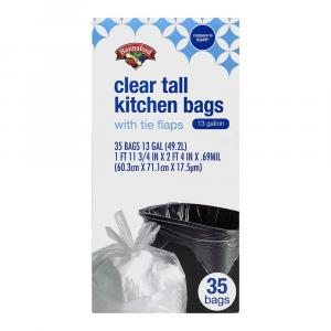 Hannaford Clear Tall Kitchen Bags With Tie Flaps