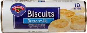 Hannaford Buttermilk Biscuits