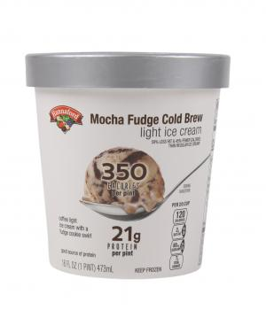 Hannaford Light Ice Cream Mocha Fudge Cold Brew