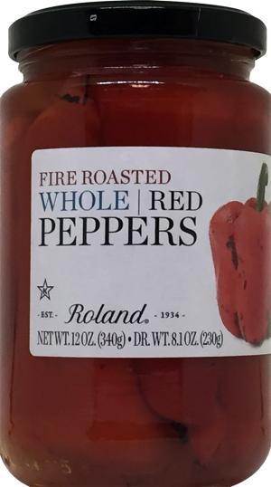 Roland Whole Fire Roasted Red Peppers