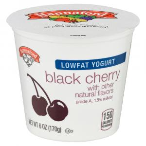 Hannaford Lowfat Yogurt Black cherry