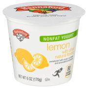 Hannaford Nonfat Lemon Yogurt