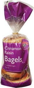 Hannaford Frozen Cinnamon Raisin Bagels