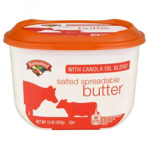Hannaford Salted Spreadable Butter With Canola Oil Blend