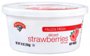 Hannaford Sliced Strawberries Tub