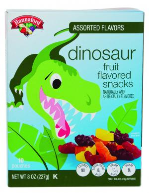 Hannaford Dinosaur Fruit Snack