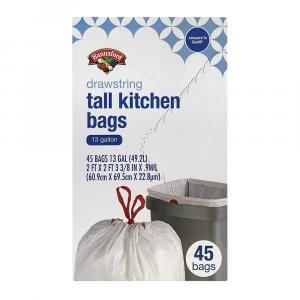 Hannaford Tall Kitchen Drawstring Bags