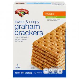 Hannaford Reduced Fat Honey Grahams Crackers