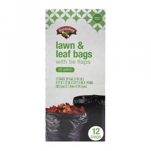 Hannaford 39-Gallon Lawn Bags w/Tie Flaps