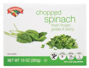 Hannaford Chopped Spinach
