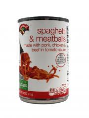 Hannaford Spaghetti & Meatballs