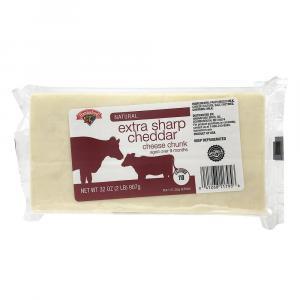 Hannaford Extra Sharp White Cheddar Chunk
