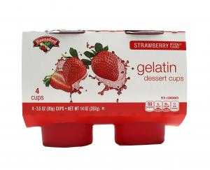 Hannaford Strawberry Gelatin Dessert Cups