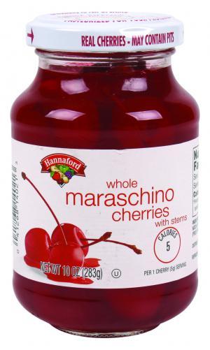 Hannaford Maraschino Cherries With Stems