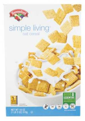 Hannaford Simply Living Oat Cereal