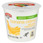 Hannaford Nonfat Banana Creme Yogurt