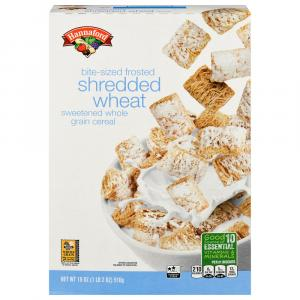 Hannaford Bite Size Frosted Shredded Wheat Cereal