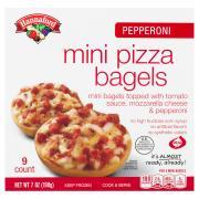 Hannaford Pepperoni Mini Pizza Bagels