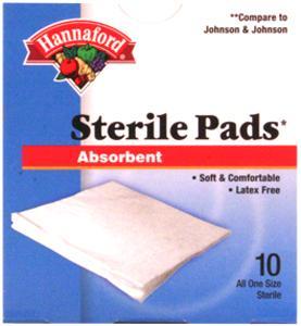 "Hannaford 2"" X 2"" Sterile Pads"