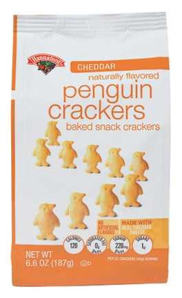 Hannaford Baked Cheddar Penguin Crackers