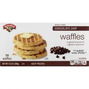 Hannaford Chocolate Chip Waffles
