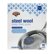 Hannaford Steel Wool Soap-Filled Pads
