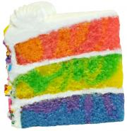 "6.5"" Triple Layer Rainbow Cake"