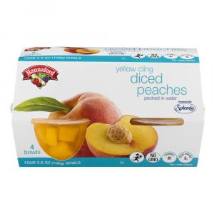 Hannaford Yellow Cling Diced Peaches with Splenda