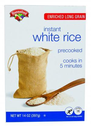 Hannaford Long Grain Instant White Rice