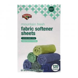 Hannaford Mountain Fresh Fabric Softener Sheets