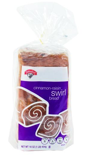 Hannaford Cinnamon Swirl Raisin Bread