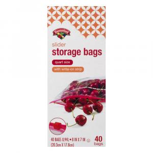Hannaford Slider Storage Bags Quart Size