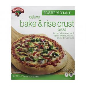 Hannaford Deluxe Bake & Rise Roasted Vegetable Pizza