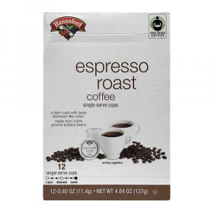 Hannaford Fair Trade Espresso Roast Coffee Style K-Cups