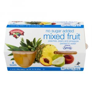 Hannaford No Sugar Added Mixed Fruit Bowls