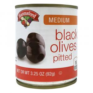 Hannaford Medium Buffet Black Olives
