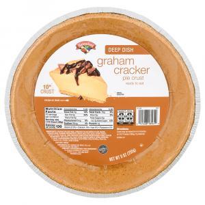 "Hannaford 10"" Deep Dish Graham Cracker Pie Crust"