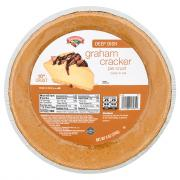 "Hannaford 10"" Deep Dish Graham Cracker Pie Crust"