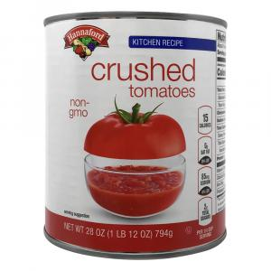 Hannaford Kitchen Recipe Crushed Tomatoes
