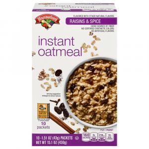 Hannaford Raisin & Spice Oatmeal